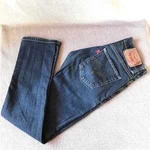 Levi's 511 Blue Jeans denim straight leg mid-rise